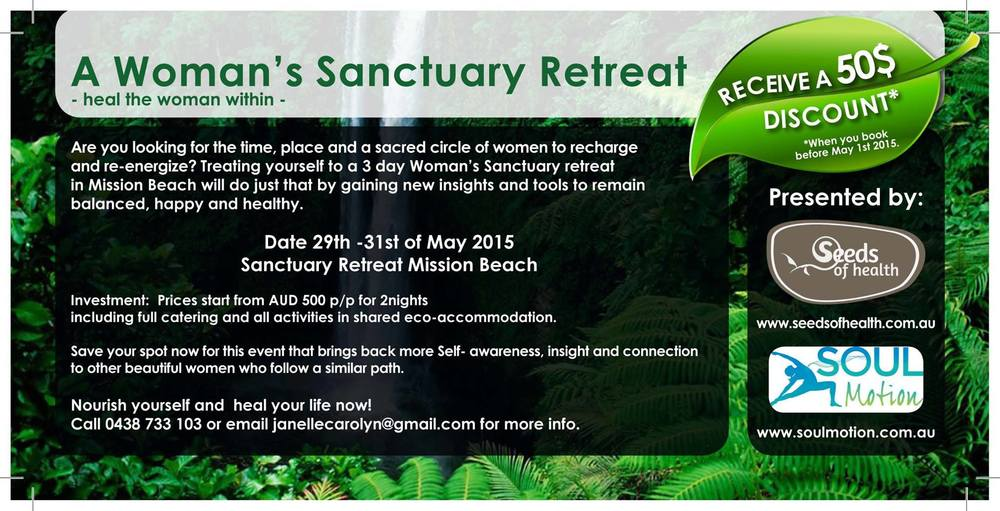 3 day women's retreat in Mission Beach, North Queensland