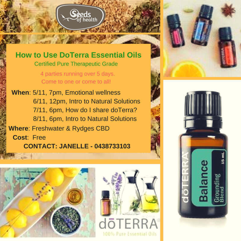 Doterra Essential Oils workshop - Low toxic living