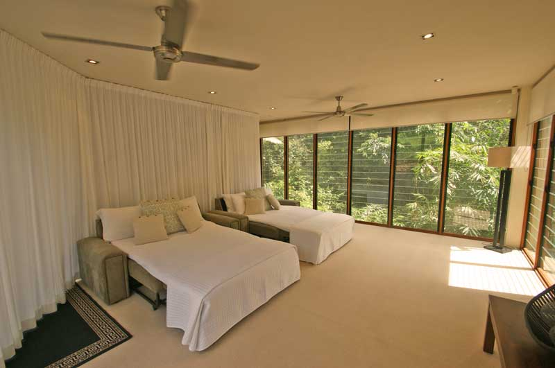 This gorgeous room has a shared bathroom and little kitchenette next door. Very spacious and comfortable.