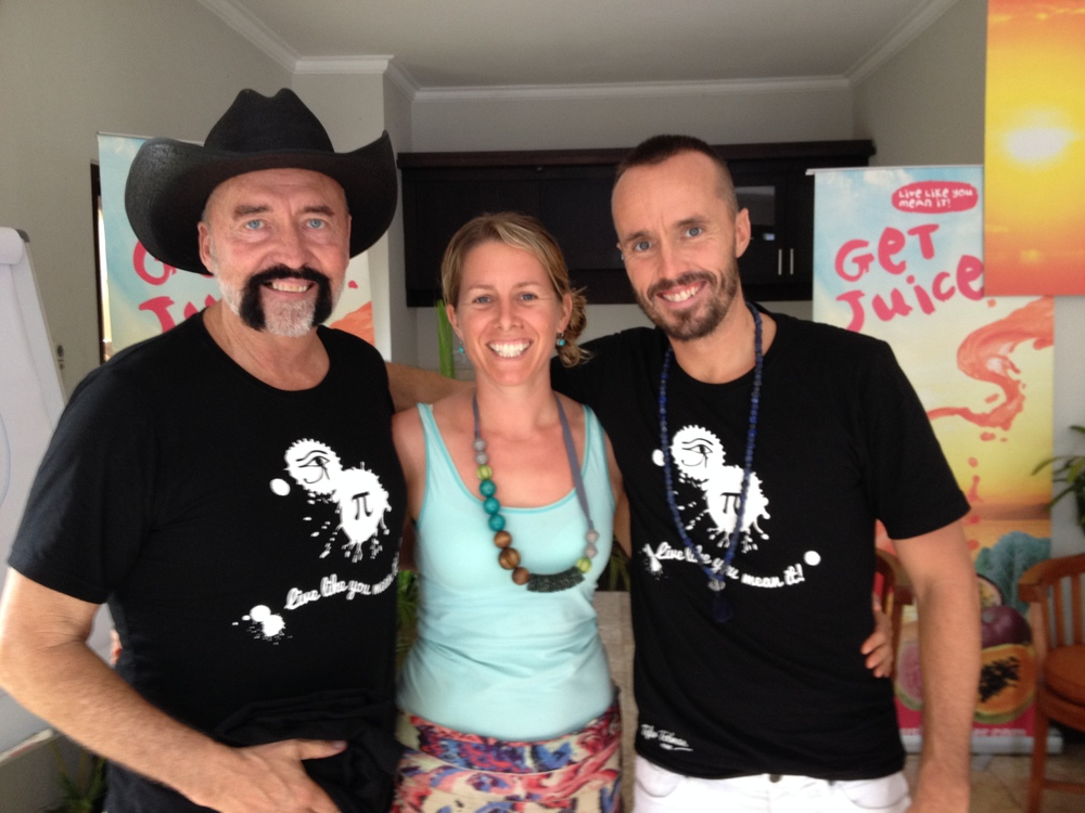 With Don & Tyler Tolman in Bali working at their 7 day juice fast