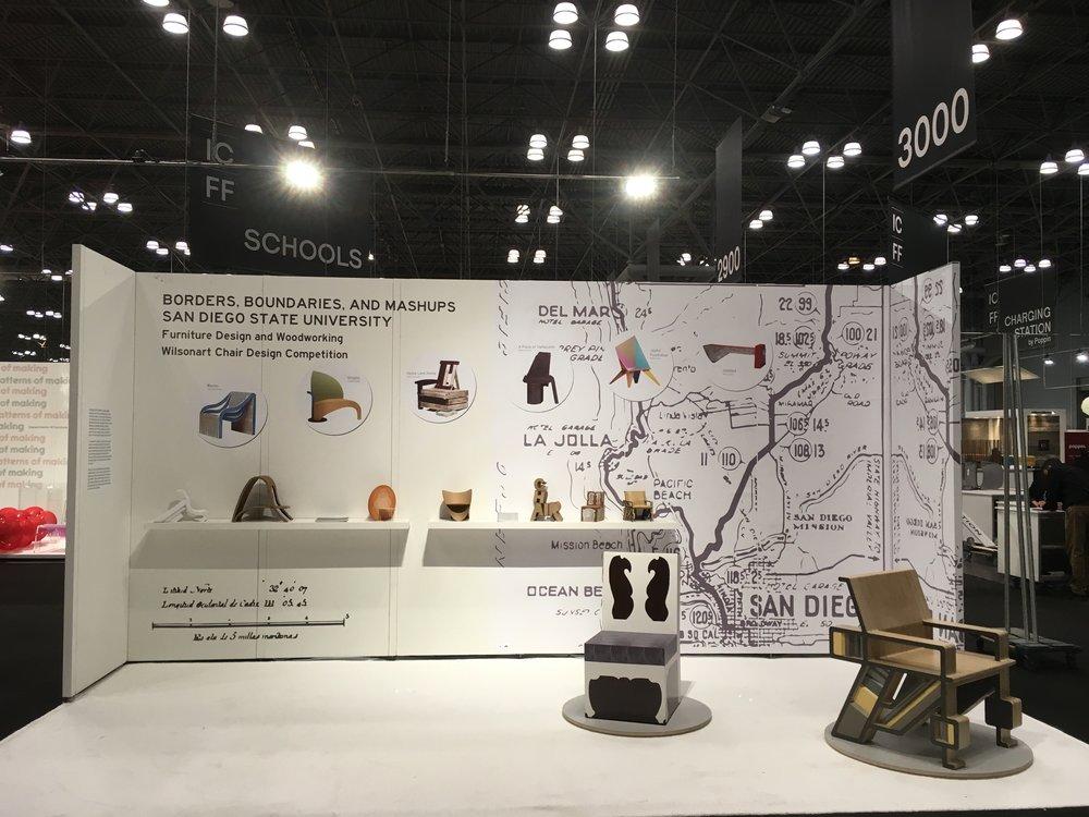 icff 2017 wilsonart chair design competition sdsu furniture