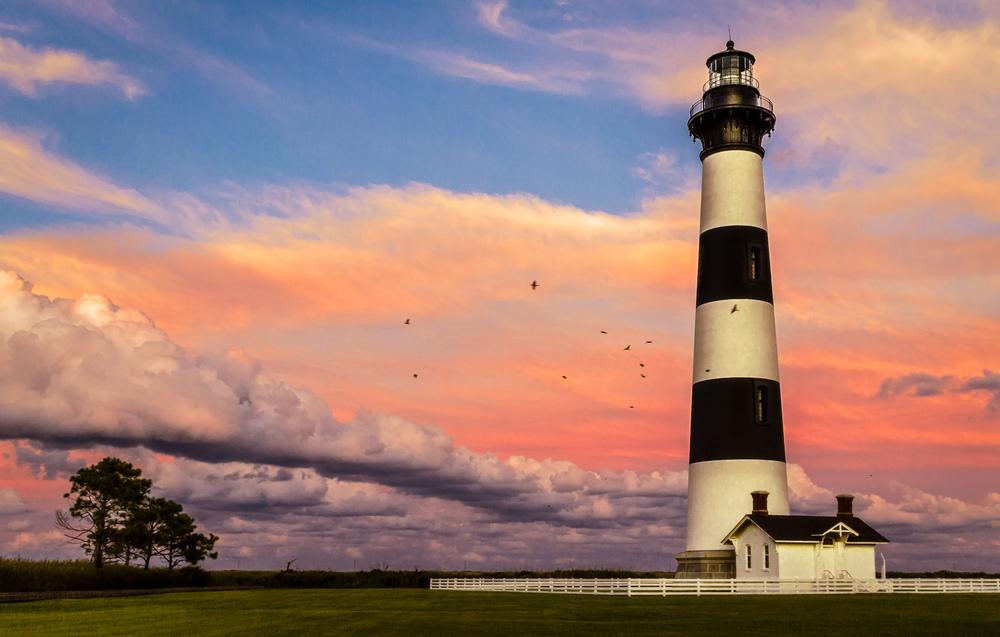 Bodie Island Sunset Flight- strait-2.jpg