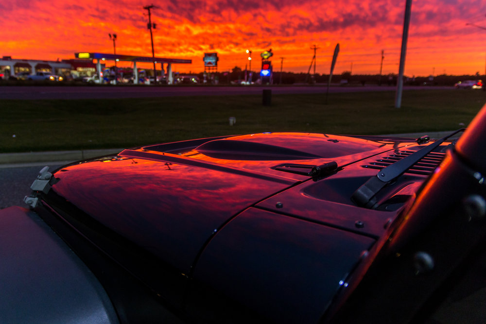 Sunsets and Gas Stations
