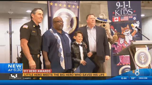 Kids Heroes Awards Ceremony - Caiden and Banks were honored for their bravery and dedication to their service.