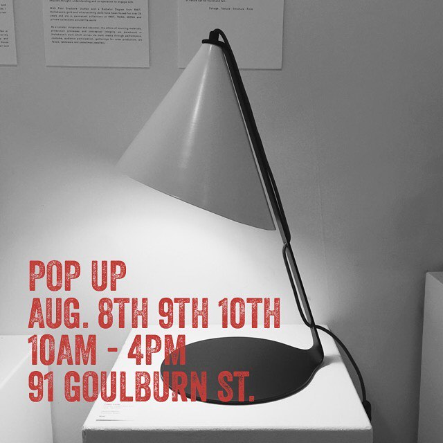 This fantastic new lamp by Stuart Williams of @touchingspace is in store now. This is a super quick pop-up so pay us a visit as soon as you can to see some top Tasmanian design by @lindseywherrett @touchingspace @nata___baum and @planthousenursery . We are also available for private viewings after hours, please contact Lindsey on 0448228994 to arrange.