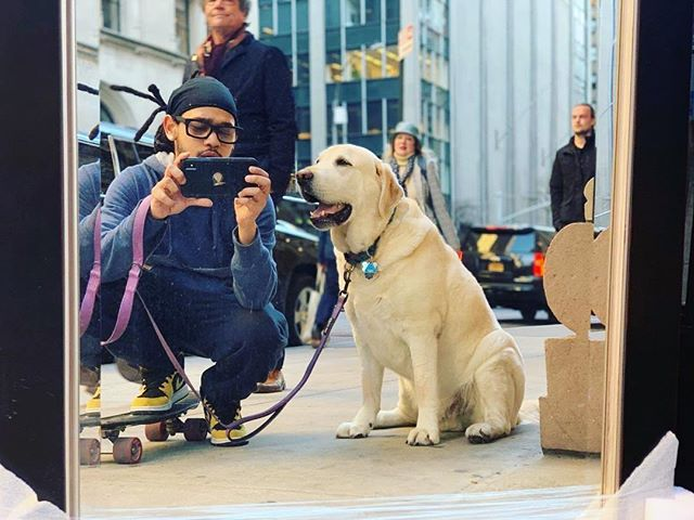 Check out Jake, one of our fantastic Pet Care Specialists, braving the concrete jungle with his pal, Alby! #PetCare #TMABnyc #NYCpets