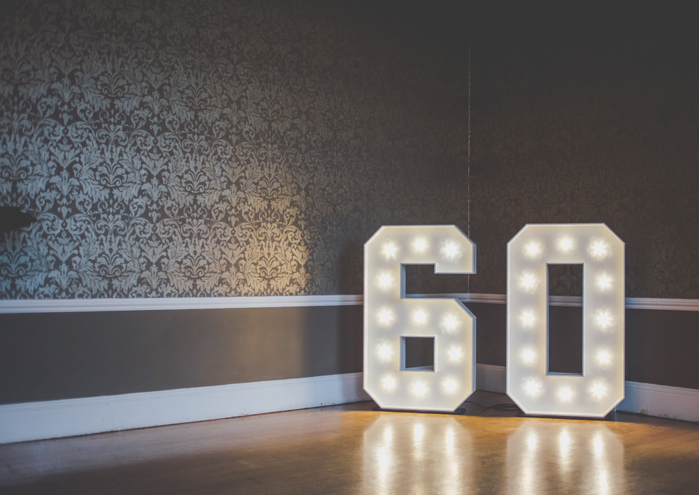 60 Milestone Age Light Up Numbers