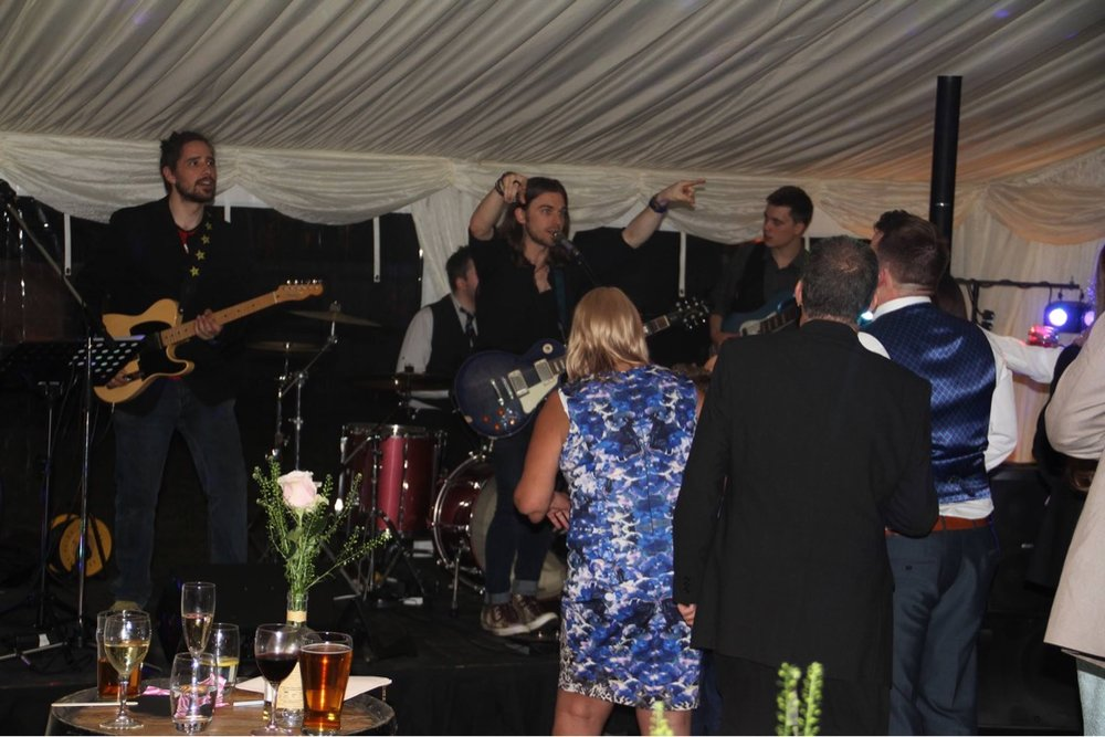Hertfordshire wedding indie rock party band for hire ready to party