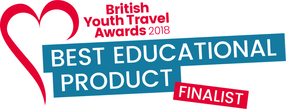 Proud to be shortlisted for the British Youth Travel awards 2018 - Best educational Product