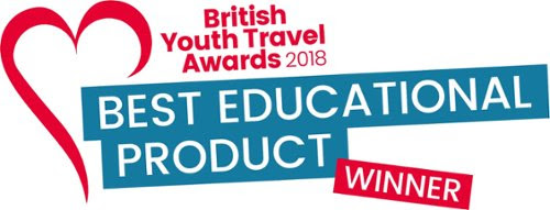 Proud AWARD WINNERS AT the British Youth Travel awards 2018 FOR Best educational Product