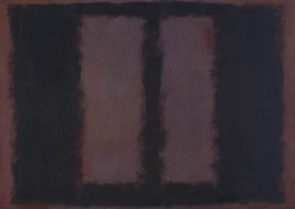 Mark Rothko, Black on Maroon (1958).