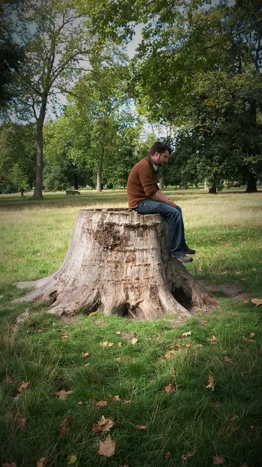 Me on a dead tree in Hyde Park