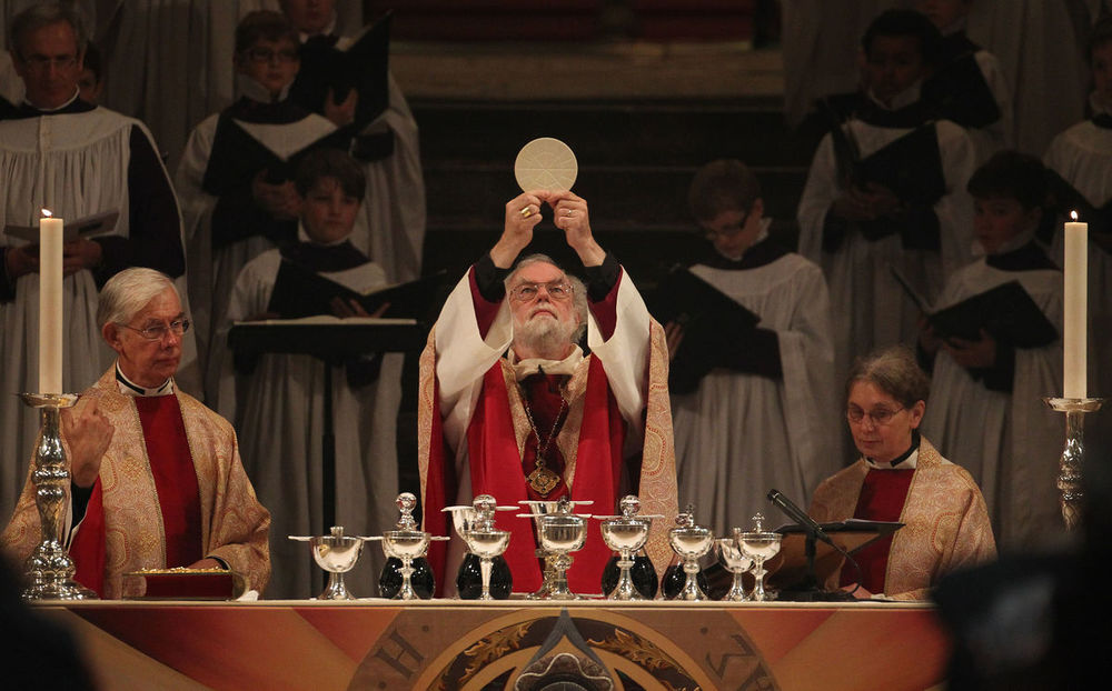Rowan Williams presiding at the Mass
