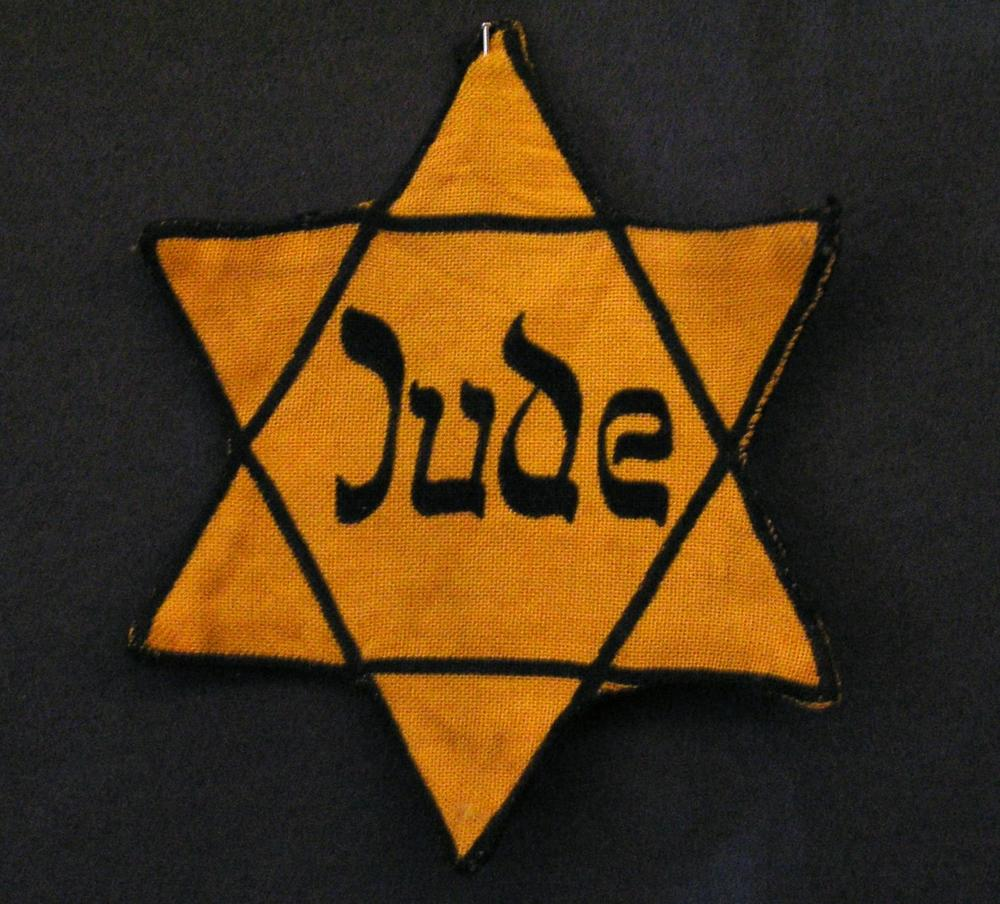 The Yellow star Jewish people had to wear under the Nazis.