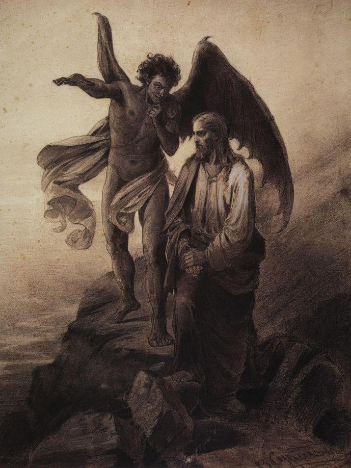 Temptation of Christ by Vasily Surikov
