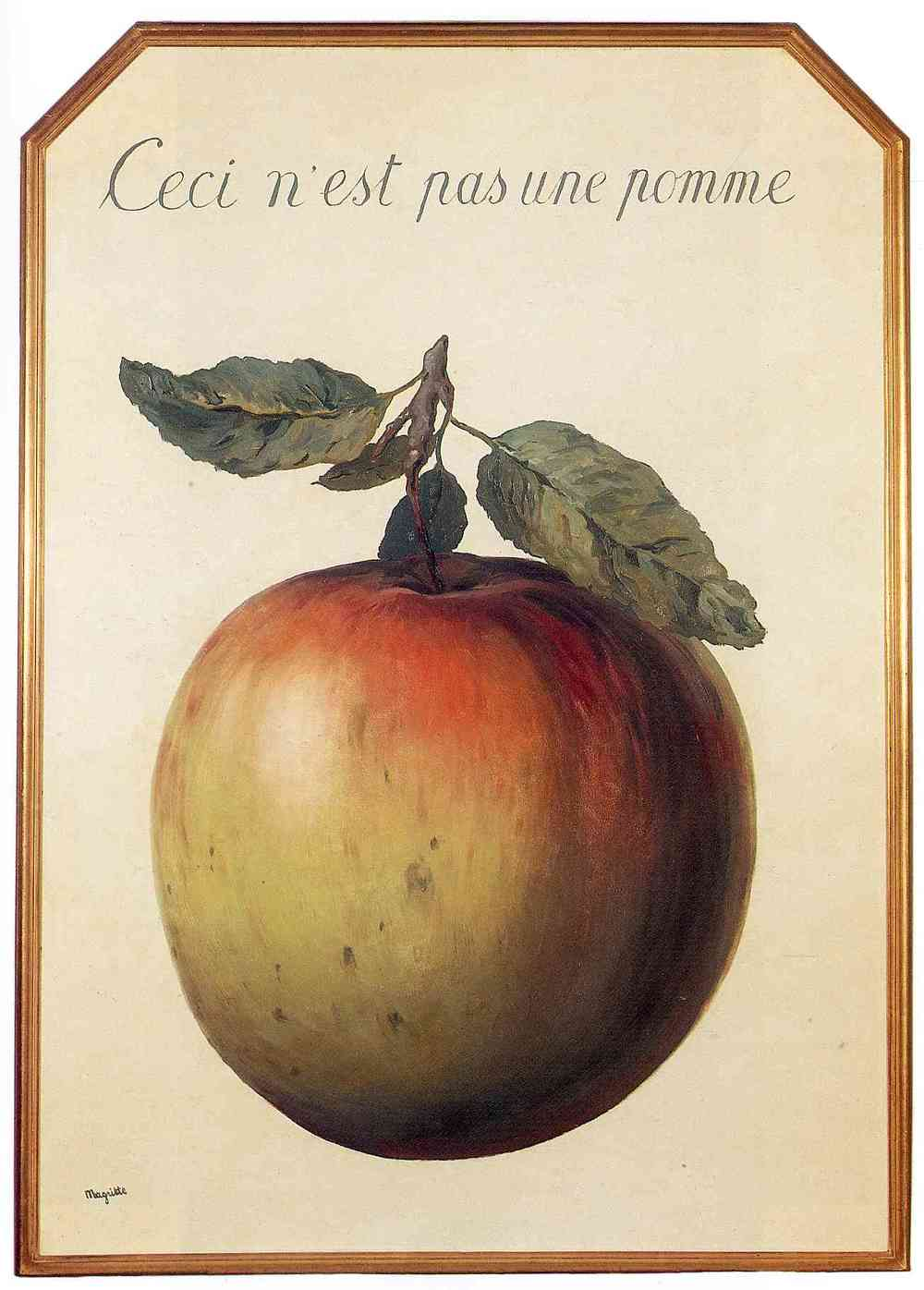 This is Not an Apple by  Ren é Magritte