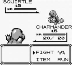 Screenshot from Pokemon Red