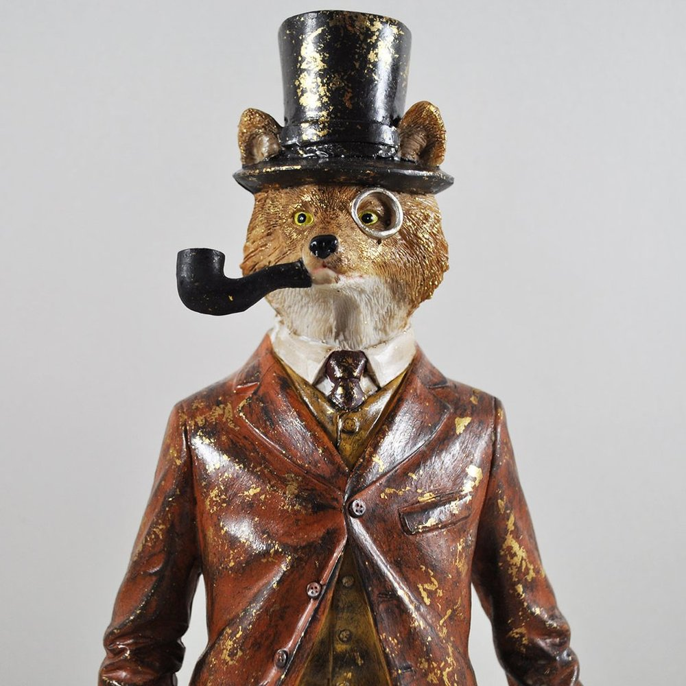 A fox in a top hat