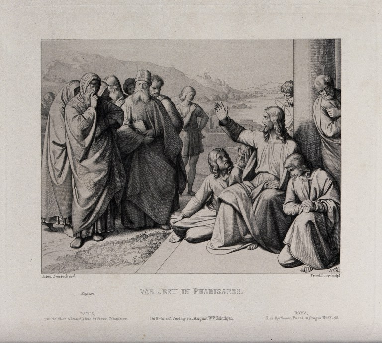'Jesus Denounces the Scribes and Pharisees', an etching by Friedrich Ludy