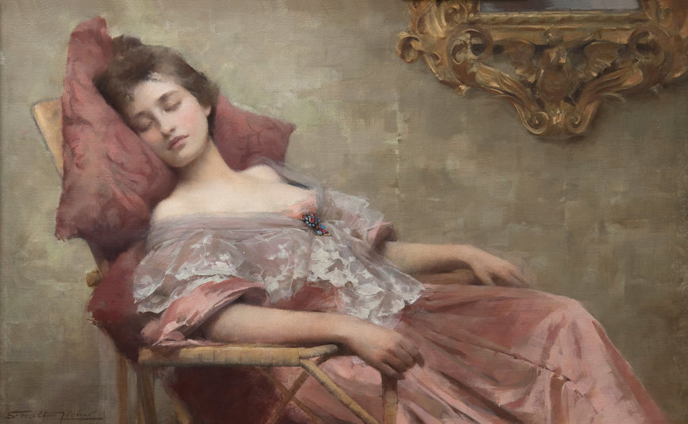 """Asleep"" ,1902 Samuel Melton Fisher"