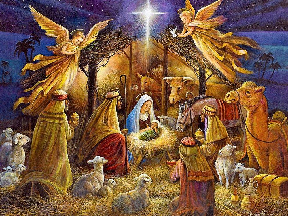 Classic Christmas card scene.