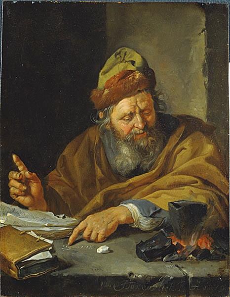 'An Alchemist' by Jacob Toorenvliet