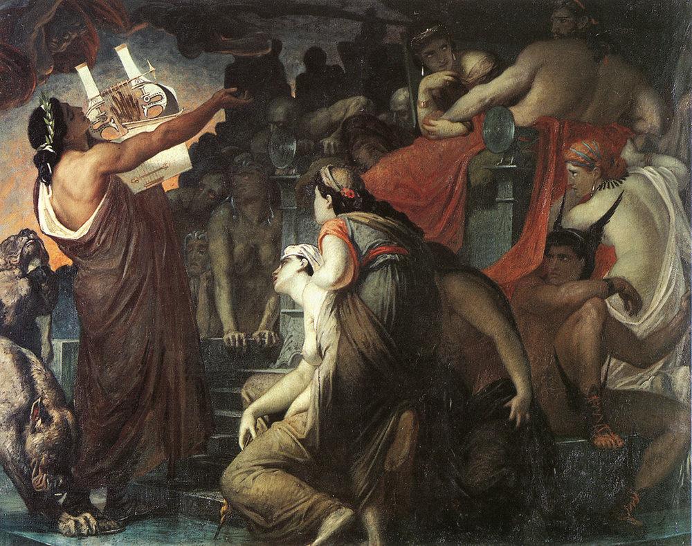 'Orpheus in the Underworld' by William Blake.