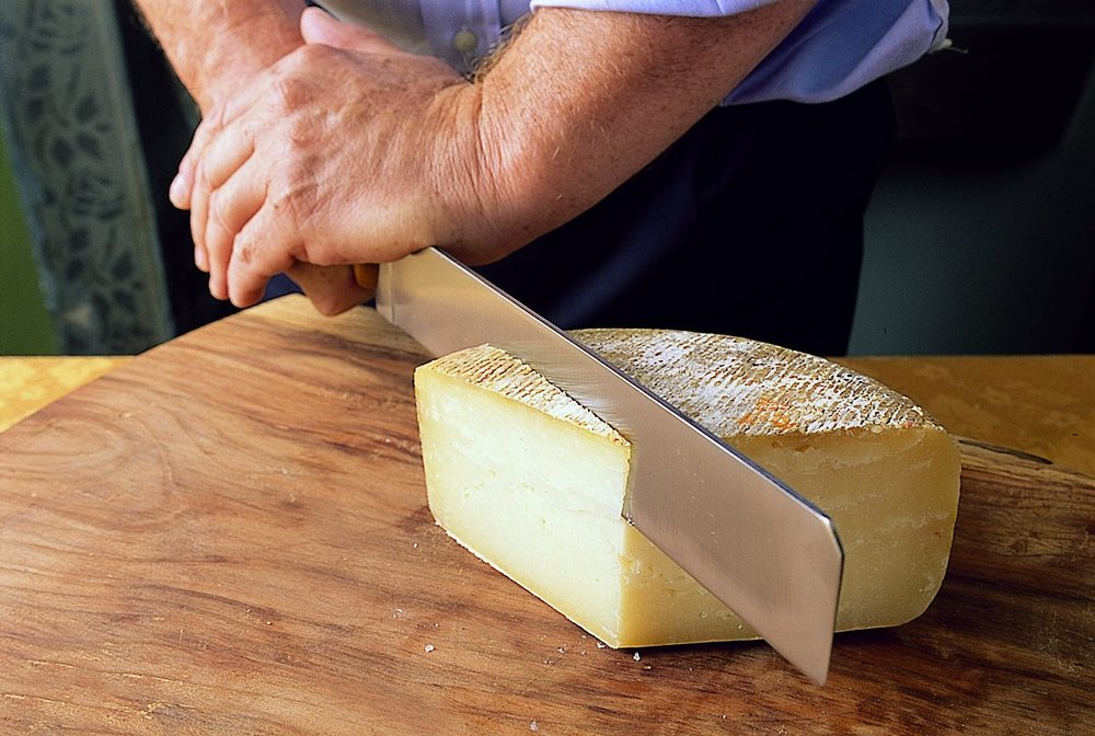 Cutting Cheese.