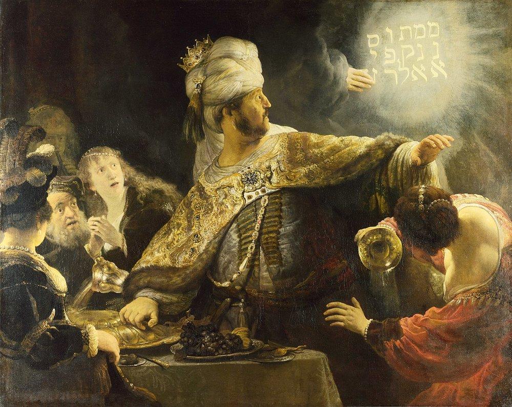 Rembrandt's 'Belshazzar's Feast