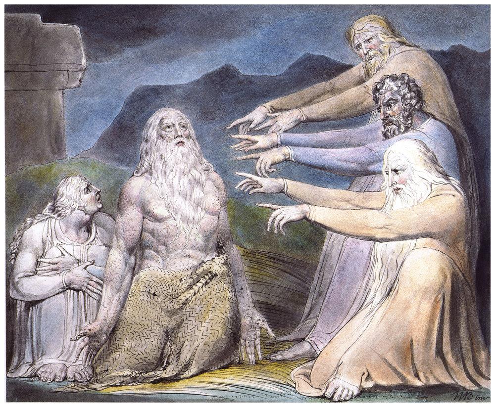 'Job Rebuked by his Friends', William Blake.