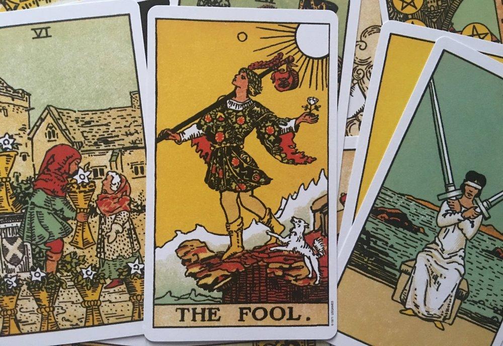The Tarot card fool.