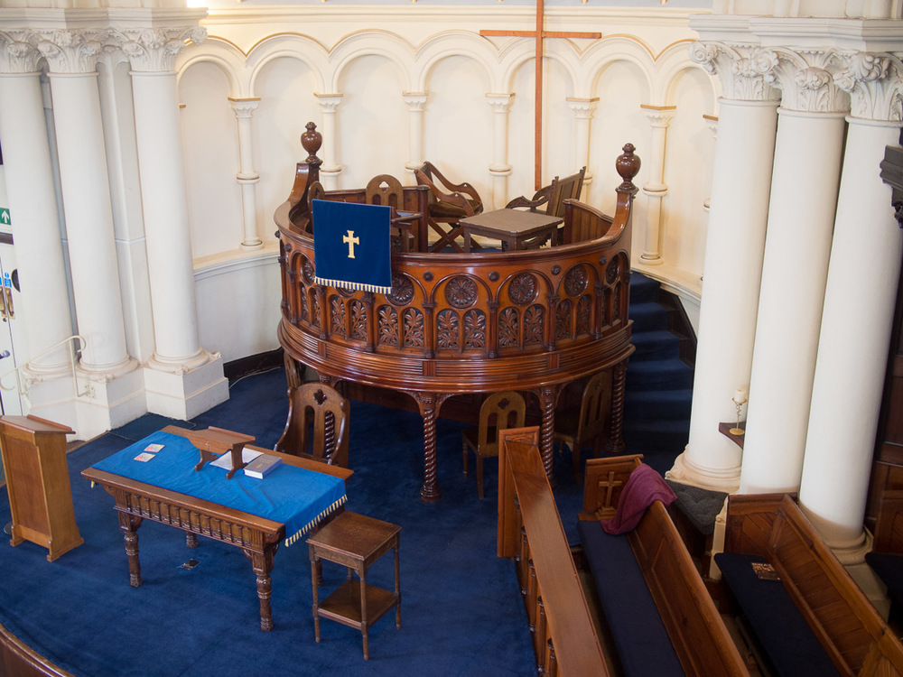 The church pulpit