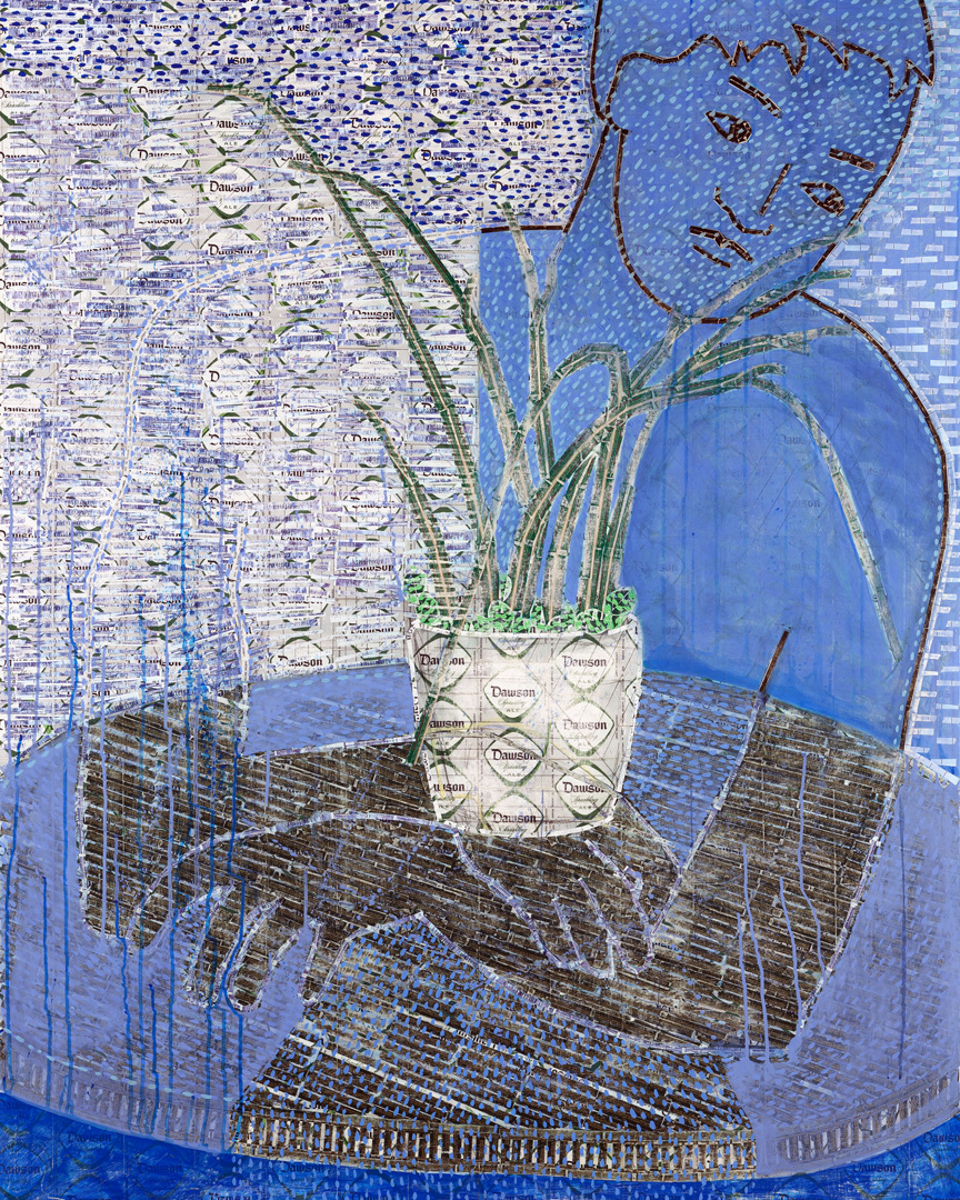 Still Life with Blue Figure