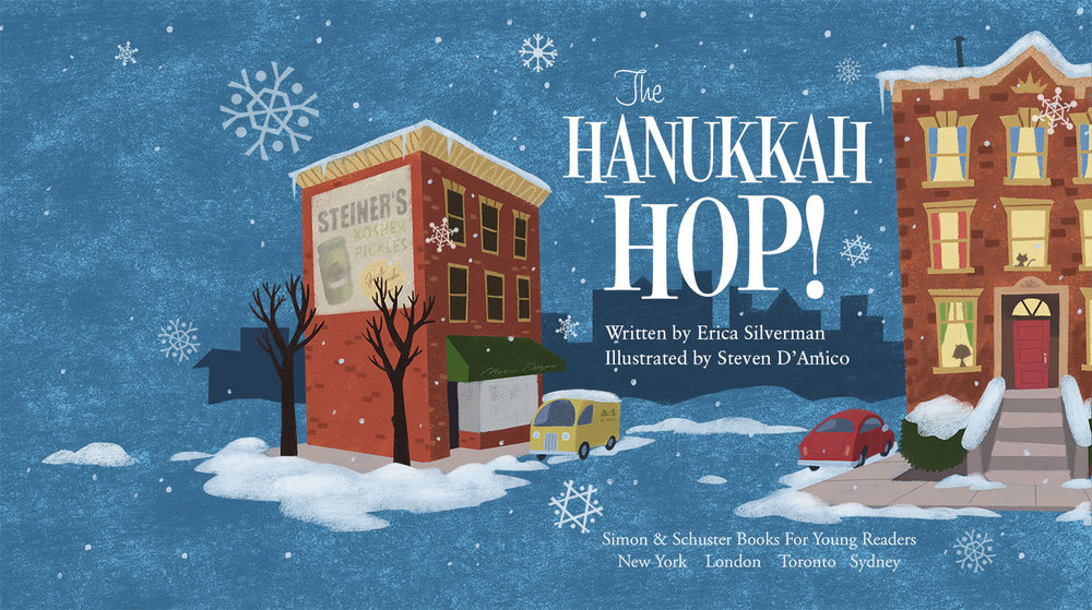 The Hanukkah Hop! Original title layout Publisher: Simon & Schuster (2011)