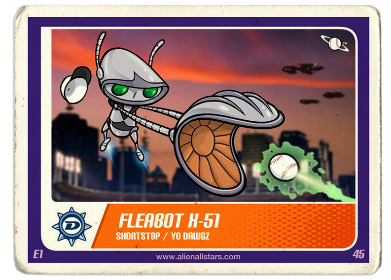 Vector illustration / Trading card   lient: Alien All-Stars (2008)