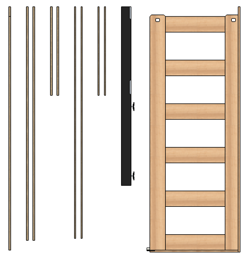 The Black Header Will Be Separate From The Frame Body, And Is Easily  Attached Using Included Bolts. If You Opt For Our Door Jamb And Stop, Those  Will Ship ...