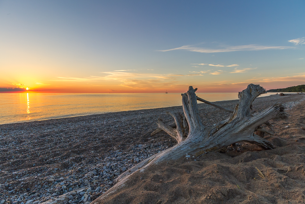 A little closer to home, but no less spectacular, one of us will be meditating in a scene that looks a whole lot like this one along the shores of Lake Huron.