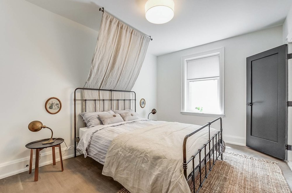 College St. Rental: Bedroom