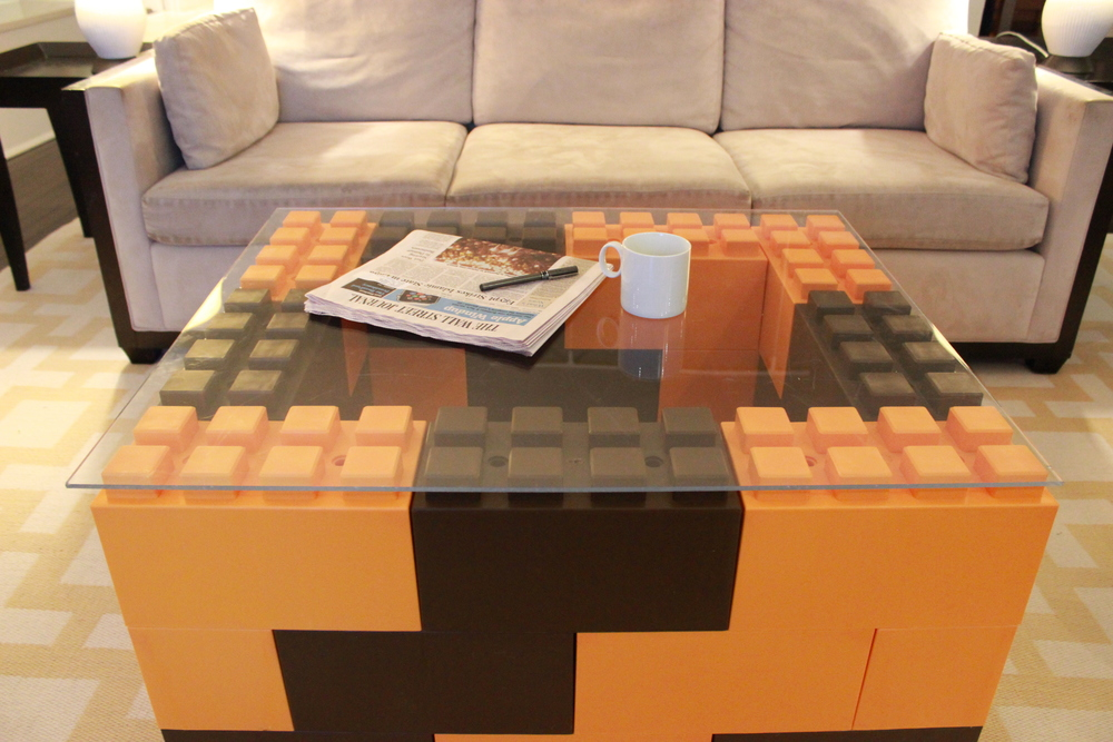 Alternate colors to create exciting modular furniture. See instructions  here