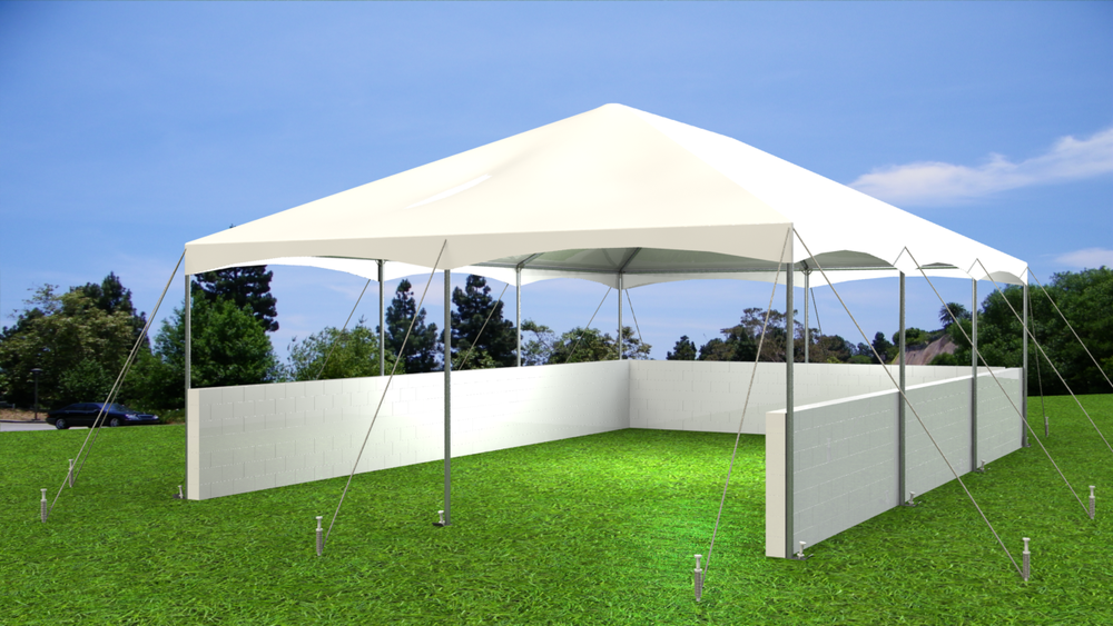 Use EverBlock to build pony walls for tents, enclosures for VIP areas and event decor applications.