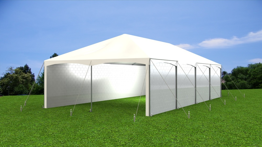 Create full height rigid side walls on pole tents, frame tents, and structure of all types.