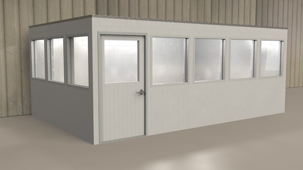 Create in-plant offices that can be relocated or reconfigured at a later date. Add doors and windows as needed as well as lighting and other accessories.