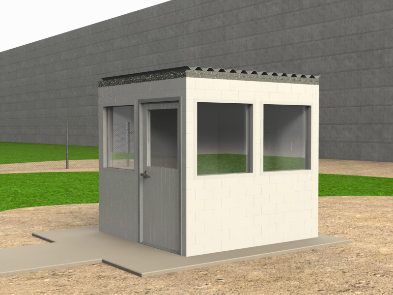 Use to build modular buildings, temporary buildings, modular structures, and portable structures including guard shacks, offices, and meeting rooms.