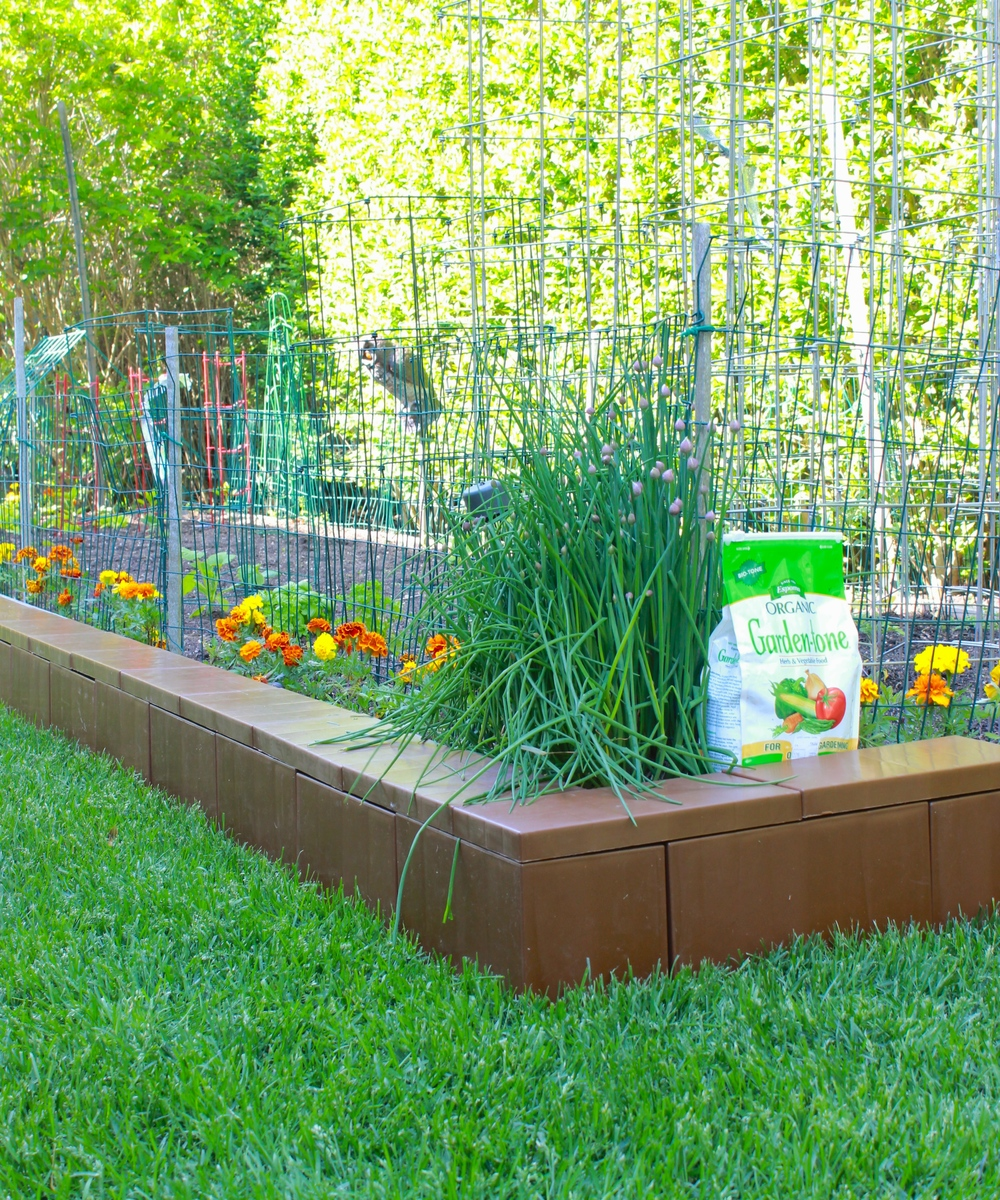 Enclose A Garden Bed And Fill With Soil To Create A Raised Flower Bed,  Vegetable
