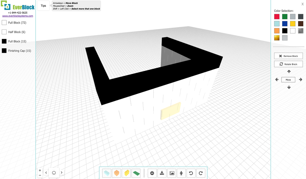 Build and manipulate objects as needed. Highlight and move sections. Rotate and view from all angles.