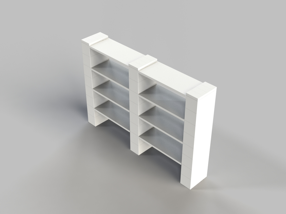 4 Level Double Shelf