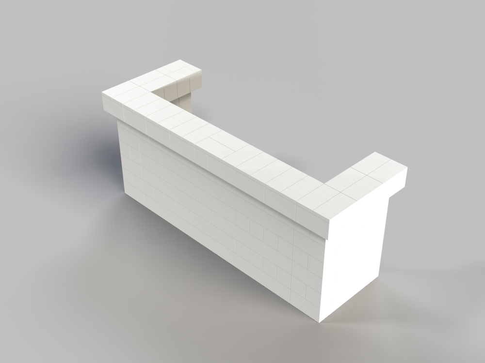8ft, 1 Layer, All Sides Cantilevered Bar