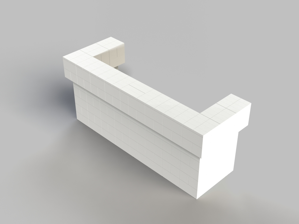 8ft, 2 Layer, All Sides Cantilevered Bar