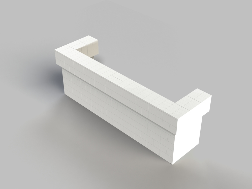 10ft, 2 Layer, All Sides Cantilevered Bar