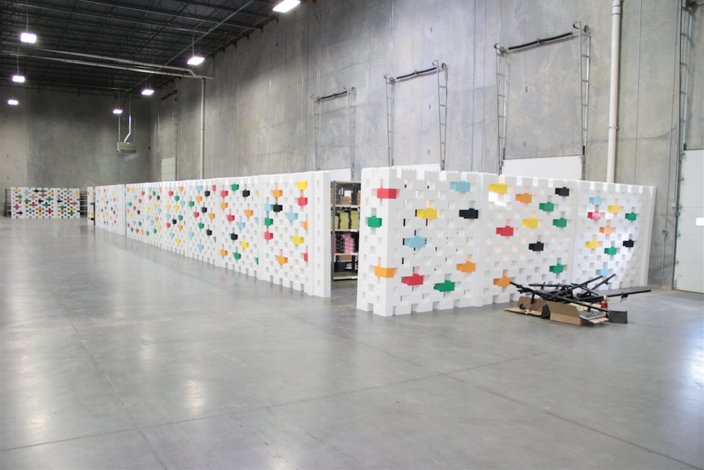 Create factory dividers and other portable and demountable walls